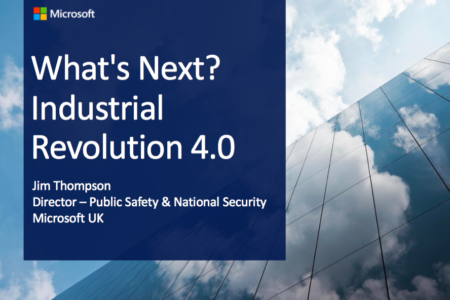 Microsoft What's Next Industrial Revolution 4.0 incl. Cyber Security -