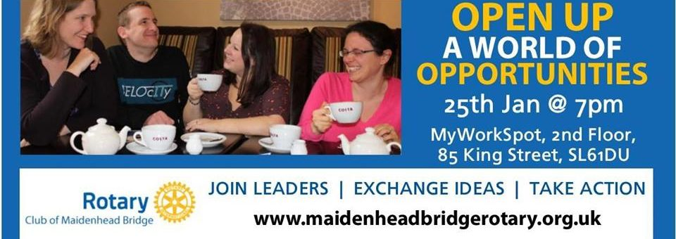 Open Networking event with Maidenhead Bridge Rotary -