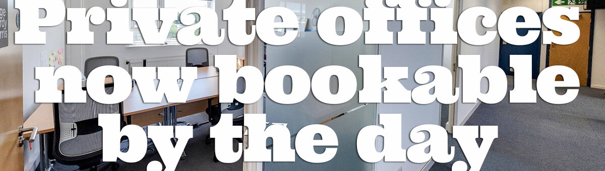 Book a private office by the day -